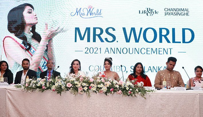 Sri Lanka was announced as the host country for the prestigious 2021 Mrs. World Pageant