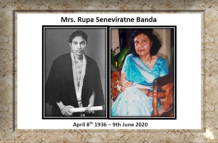 Obituary - Rupa Seneviratne Banda
