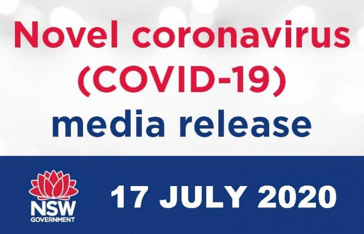 NSW Health Covid-19 Media Release - 17th July 2020