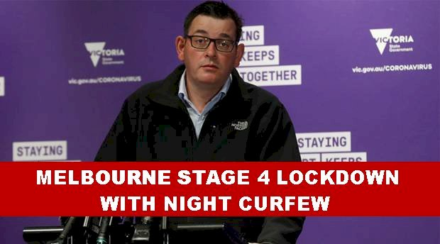 Stage 4 lockdown with night curfew in Victoria
