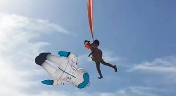 Toddler Gets Tangled in a Kite and Blown Into the Air at a Taiwanese Kite Festival