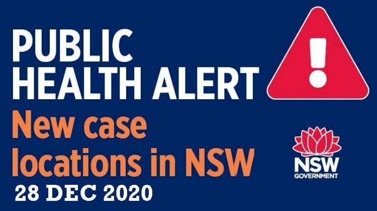 Public health alert – New venues and routes (28 Dec 2020)