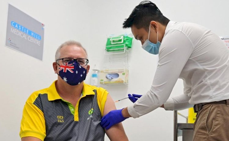 Prime Minister Scott Morrison among small group to receive first coronavirus vaccines.